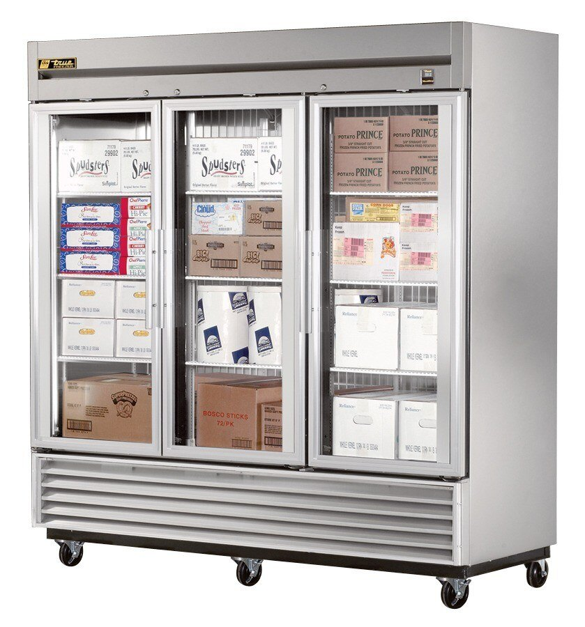 True Refrigeration True TS-72FG 3 Section Glass Door Bottom Mounted Reach-In Freezer - All Stainless Steel at Sears.com
