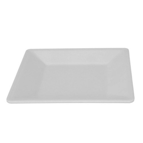 "Thunder Group PS3211W Passion White 10 1/4"" Square Plate - 12/Pack"