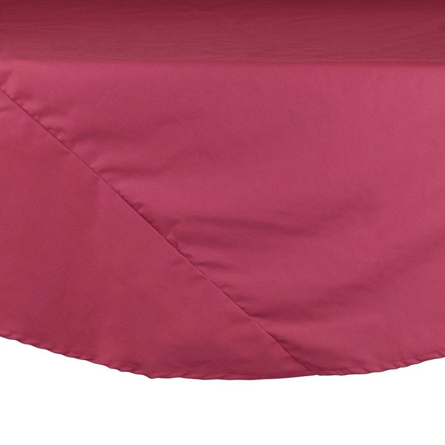 120 inch Round Mauve 100% Polyester Hemmed Cloth Table Cover