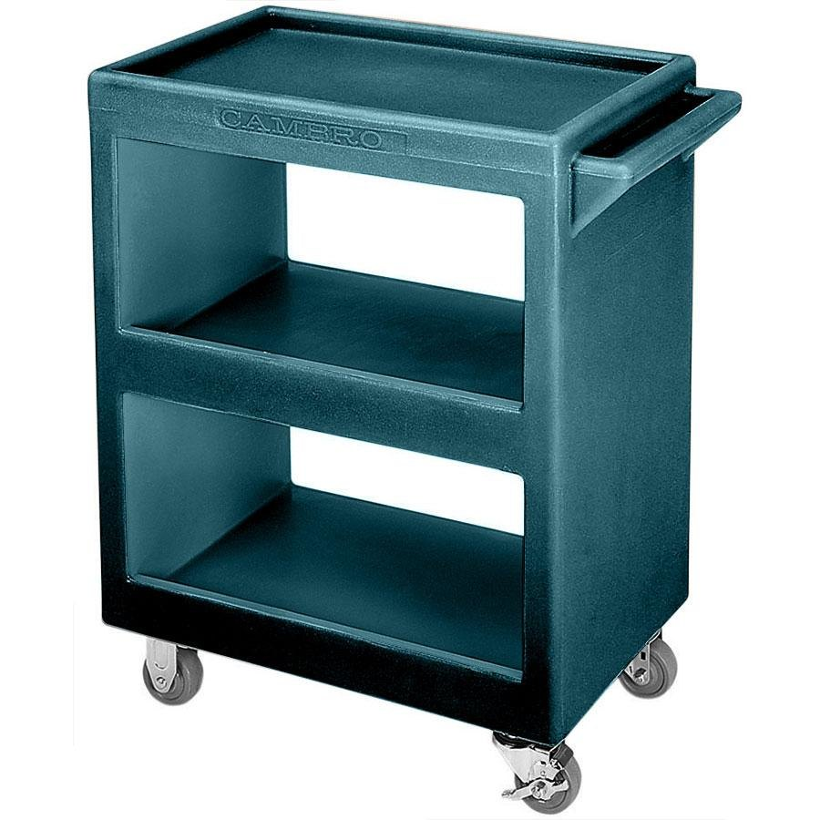 "Cambro BC2254S192 Granite Green Three Shelf Service Cart - 28"" x 16"" x 32 1/4"""
