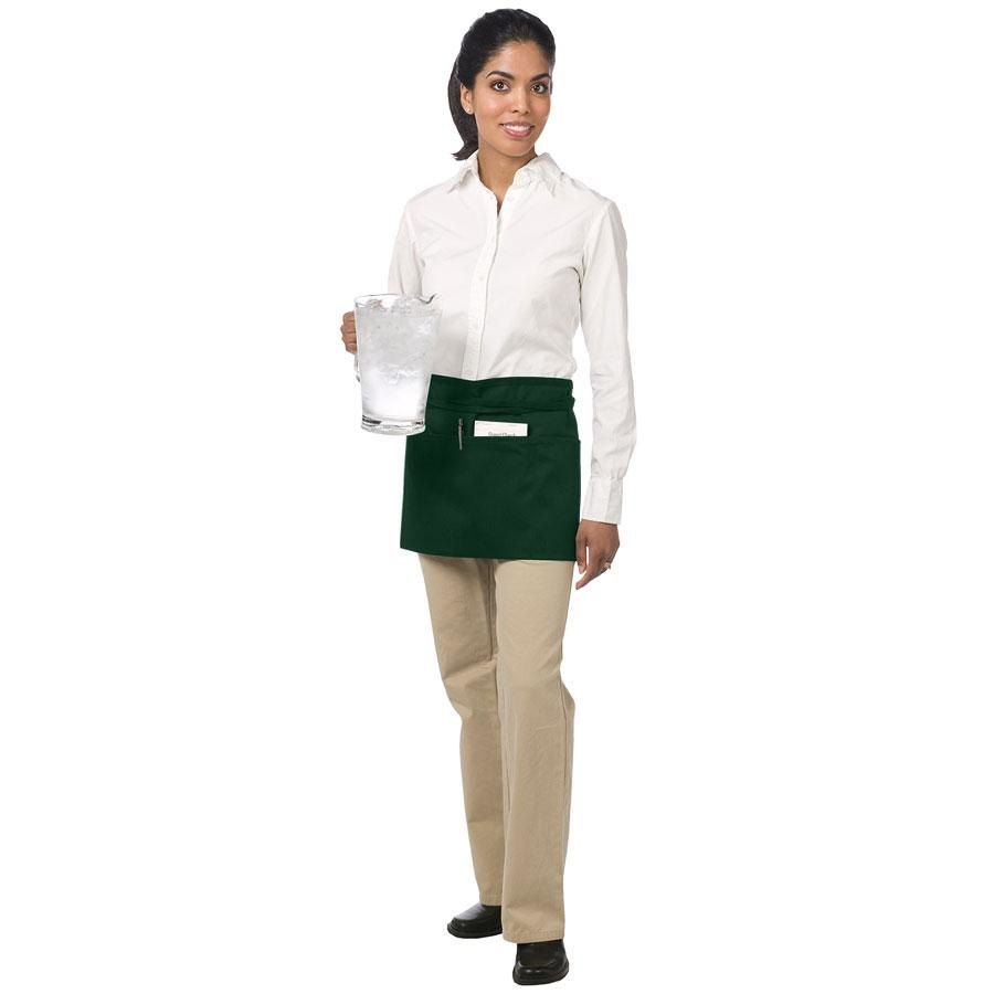 Chef Revival 605WAFH-HG Hunter Green Front of the House Waist Apron – 12 inch x 24 inch