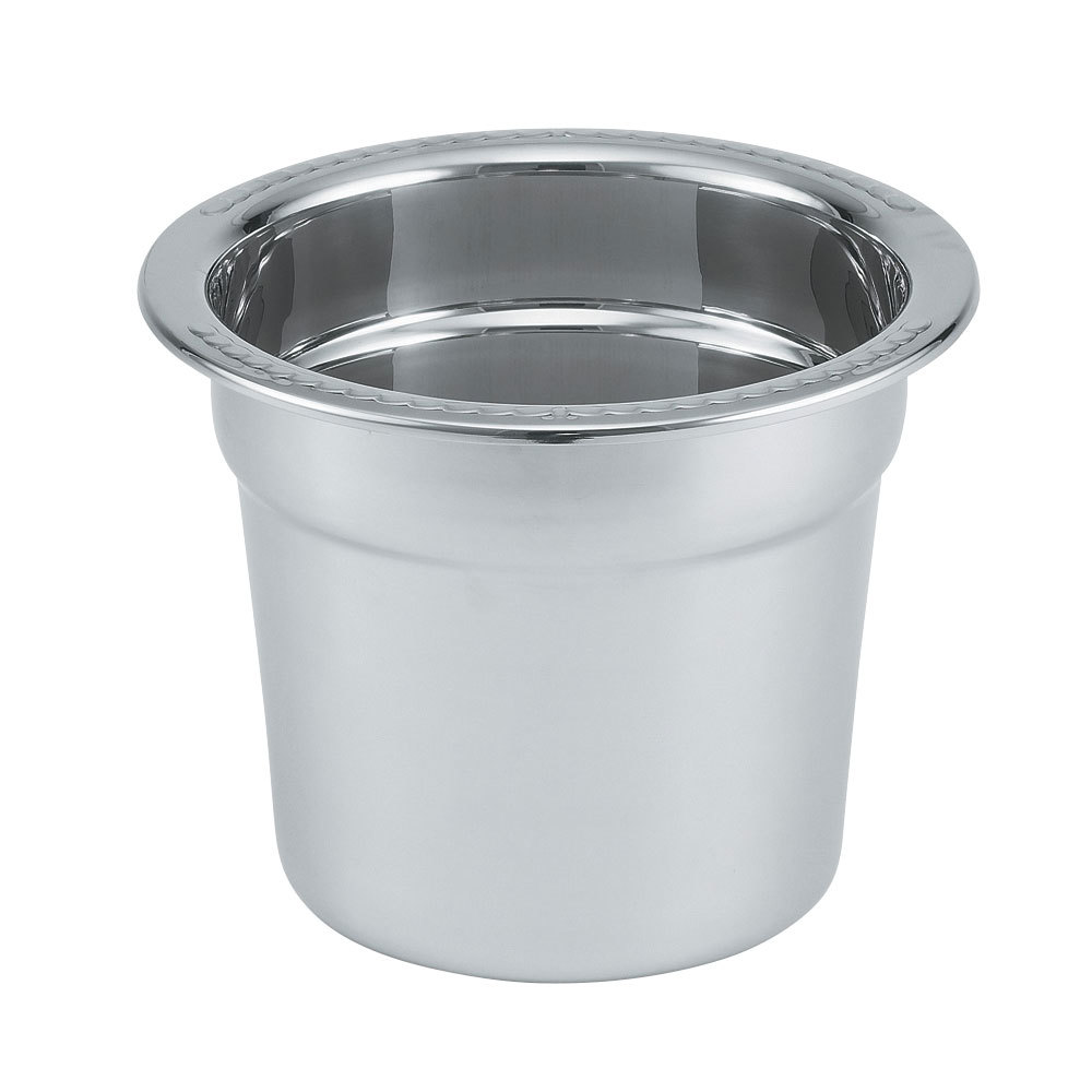 Vollrath 8230010 Miramar 7 Qt. Stainless Steel Soup Inset with Embossed Rim
