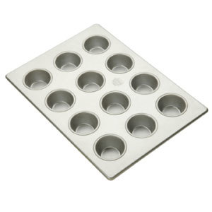 "12 Cup Aluminized Steel Cupcake / Muffin Pan 3.8 oz. 10"" X 14"""