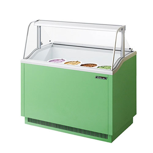 """Turbo Air Refrigeration Turbo Air TIDC-47G Green 47"""" Ice Cream Freezer Dipping Cabinet with Low Curved Glass - 10.31 Cu. Ft. at Sears.com"""