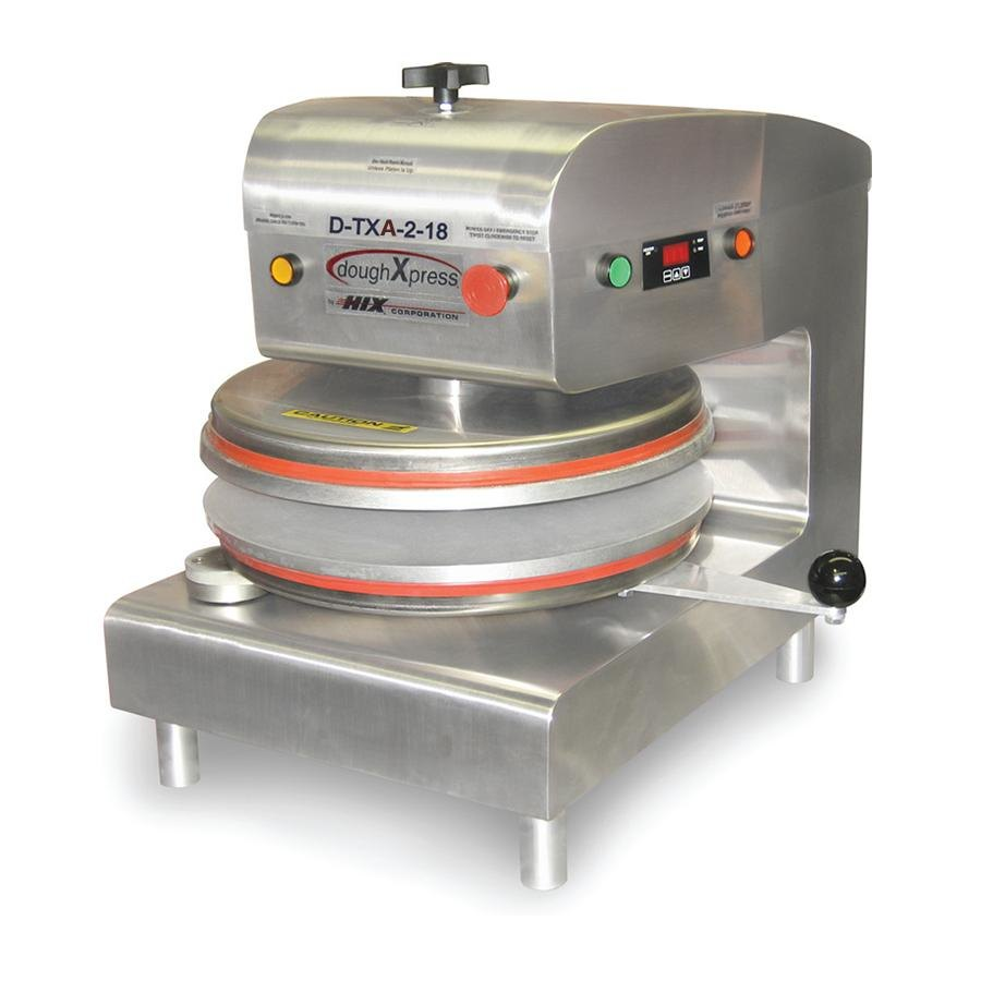 "DoughXpress D-TXA-2-18 Dual Heat Round Air Automatic Tortilla Press 18"" - 220V at Sears.com"