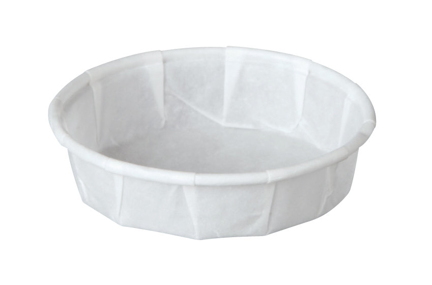 Solo 075S-2050 .75 oz. White Squat Paper Souffle / Portion Cup 250 / Pack