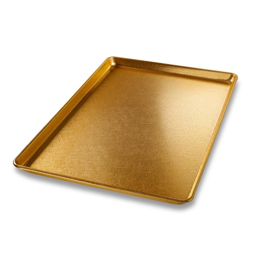 "Chicago Metallic 40910 Gold Full Size Bakery Display Tray - 18"" x 26"""