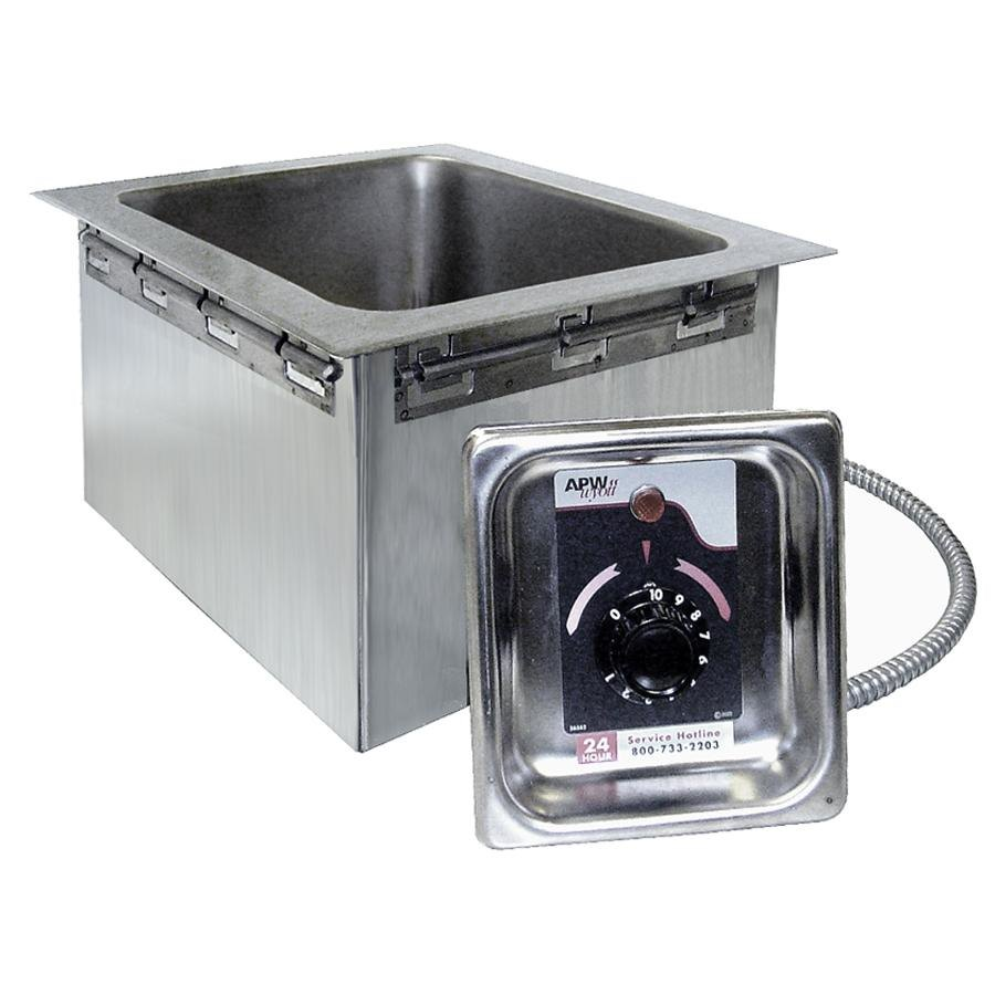 208/240 Volt APW Wyott HFW-1 Insulated One Pan Drop In Hot Food Well
