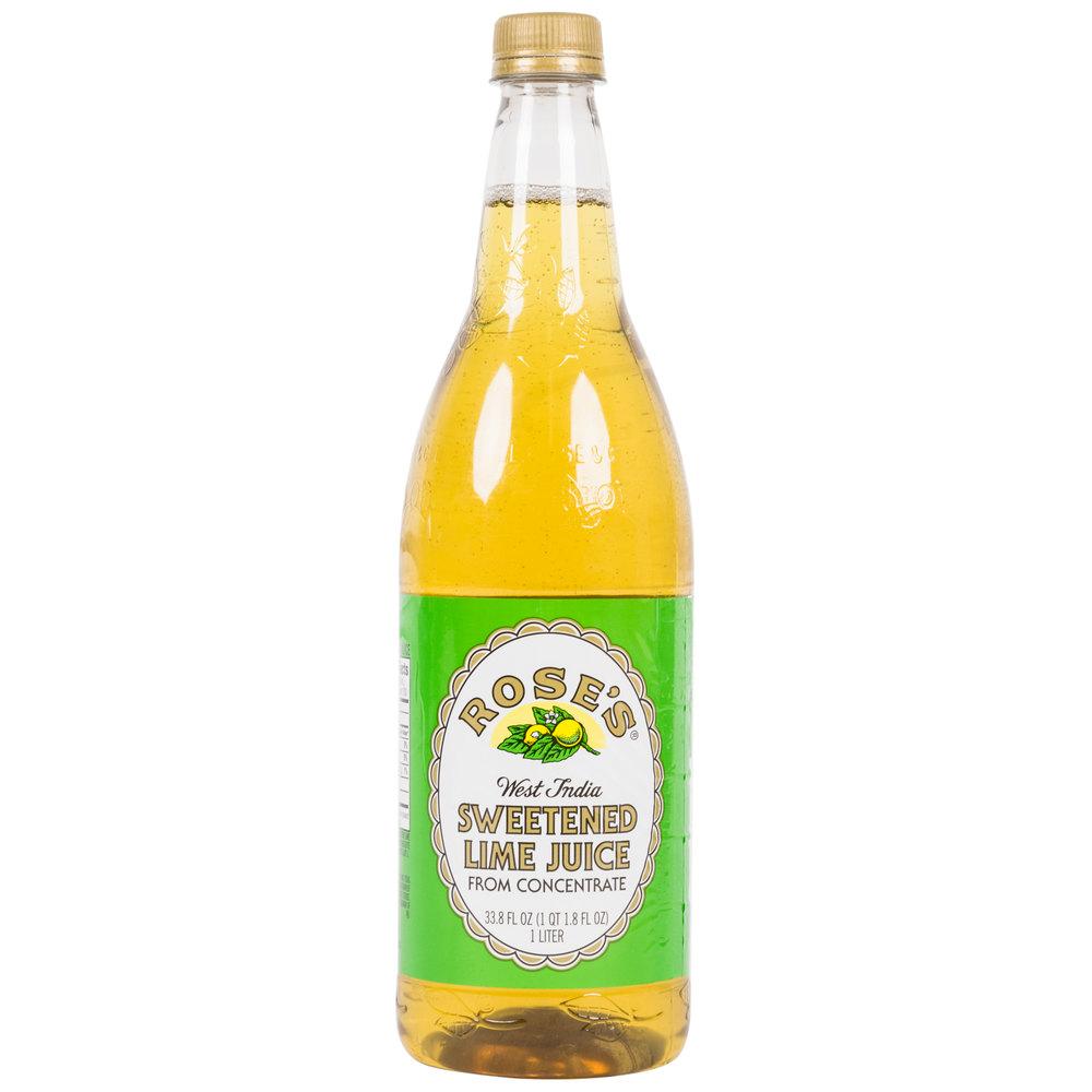Rose S 1 Liter Lime Juice 12 Case