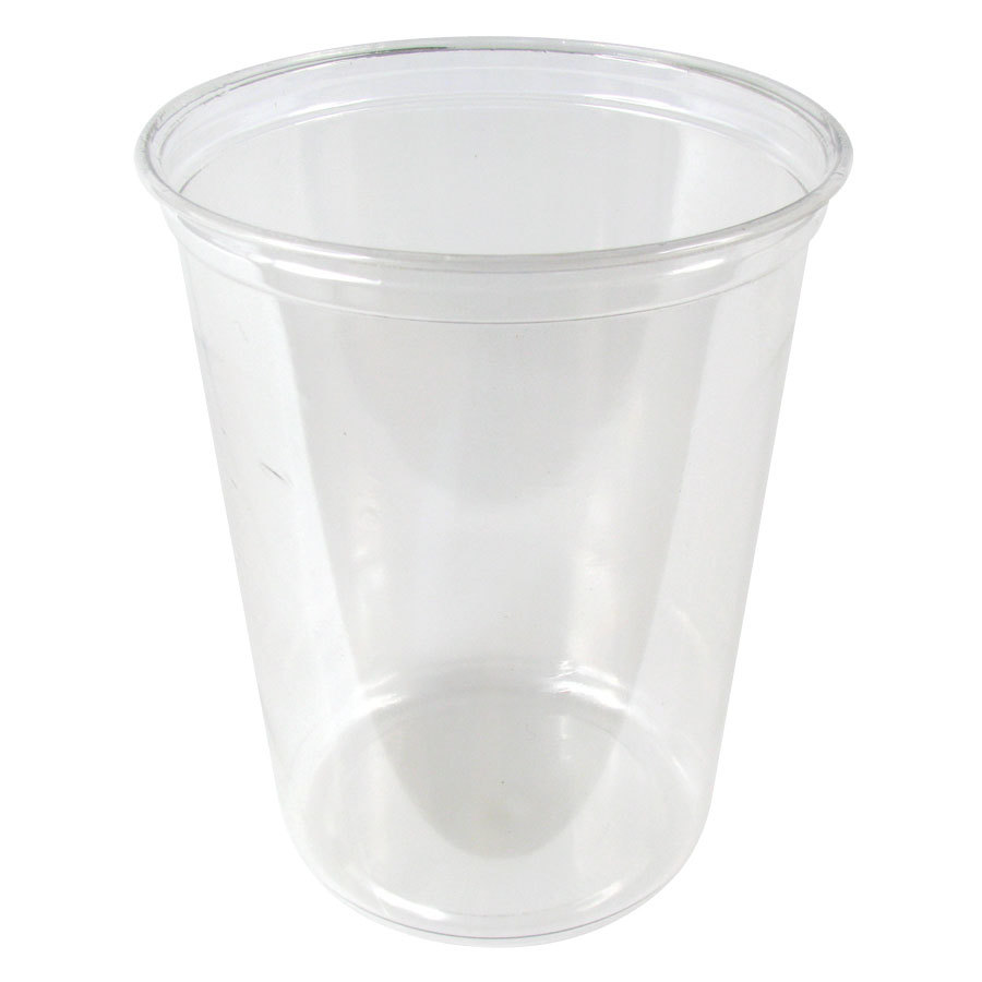 Solo SCCDM32R Bare 32 oz. Clear Deli Container Recycled - 500/Cas