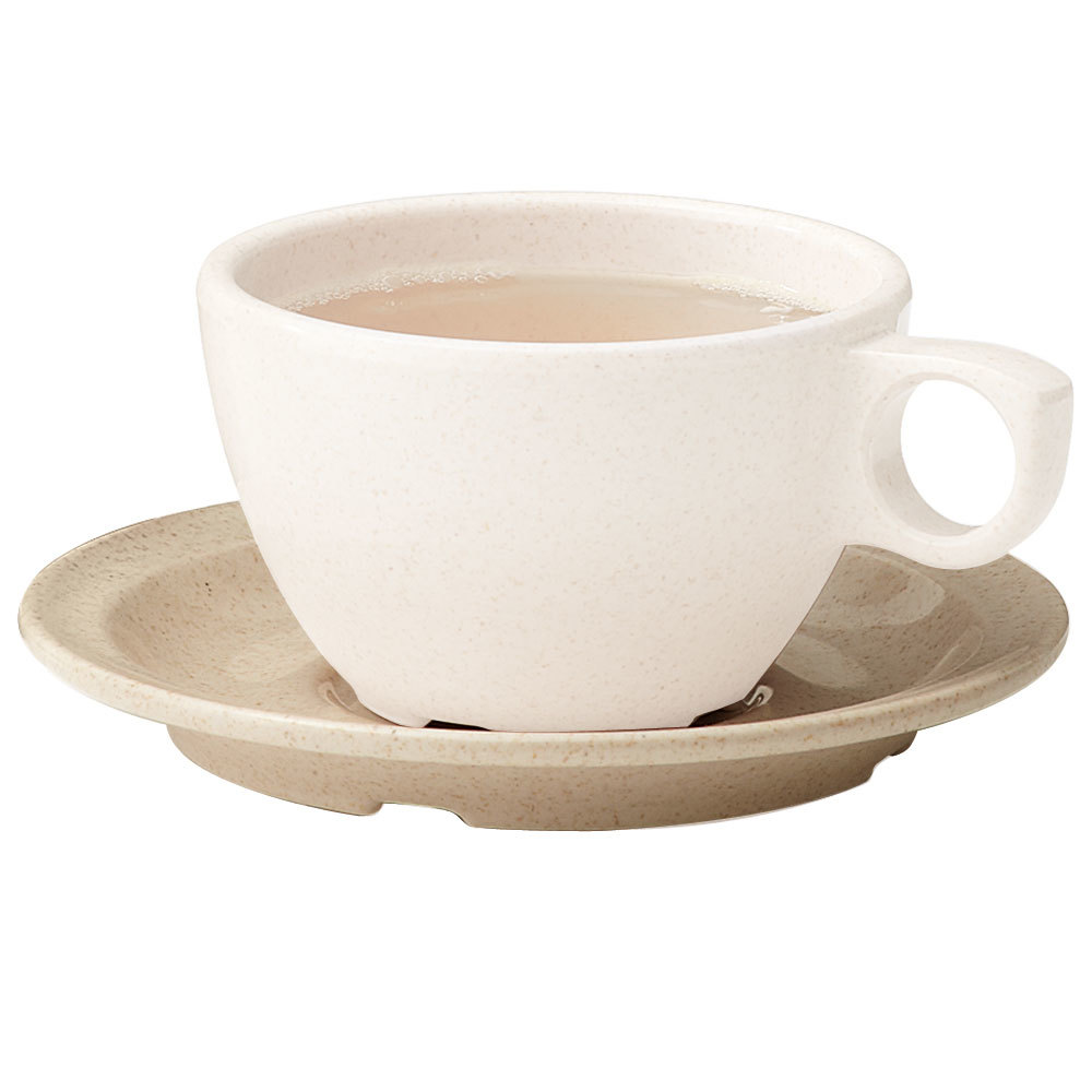 "GET BAM-1002 BambooMel 5 3/4"" Saucer for BAM-1001 Ovide Cappuccino Cup - 48/Case"