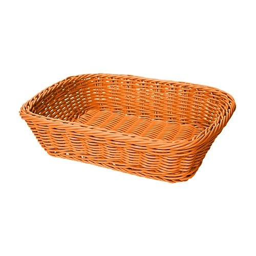 "GET WB-1508-OR 11 1/2"" x 8 1/2"" x 2 3/4"" Designer Polyweave Orange Rectangular Basket - 12 / Case"