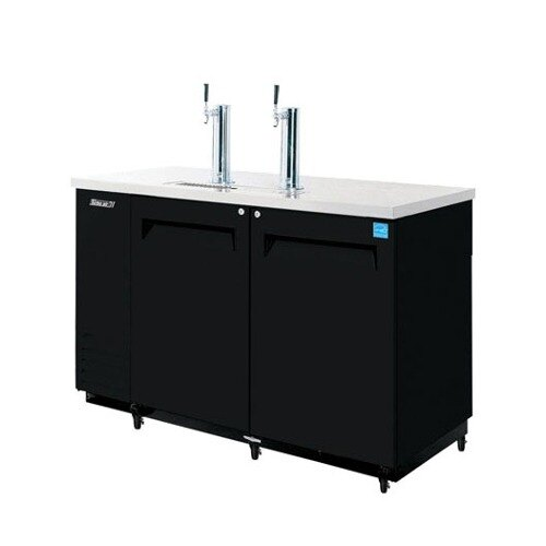 "Turbo Air Refrigeration Turbo Air TBD-2SB Black 59"" Beer Dispenser - 2 Kegs at Sears.com"
