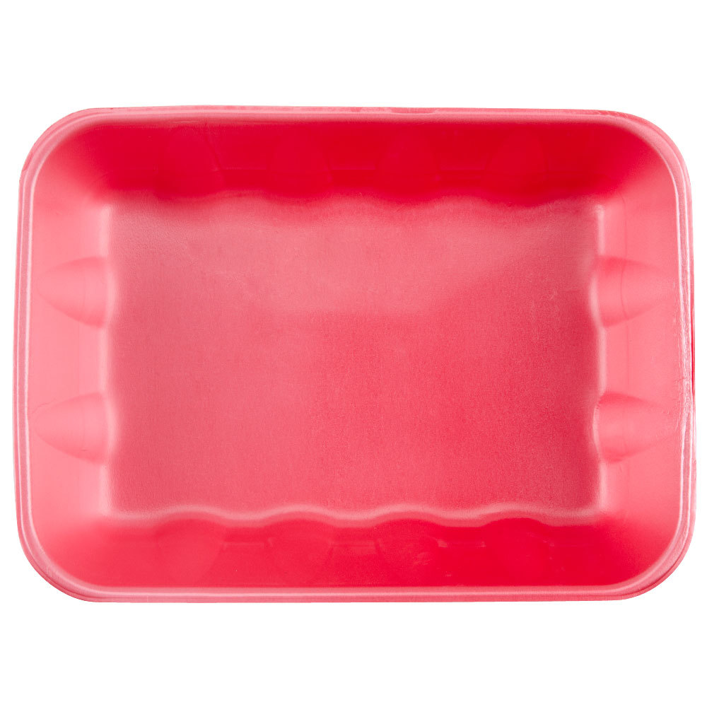 "Genpak 1020K (#20K) Rose 11 7/8"" x 8 3/4"" x 2 1/2"" Foam Supermarket Tray - 100/Case"