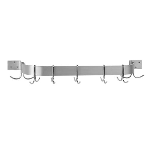 Advance Tabco SW1-96 Stainless Steel Single Bar Pot Rack Wall Mounted - 96""
