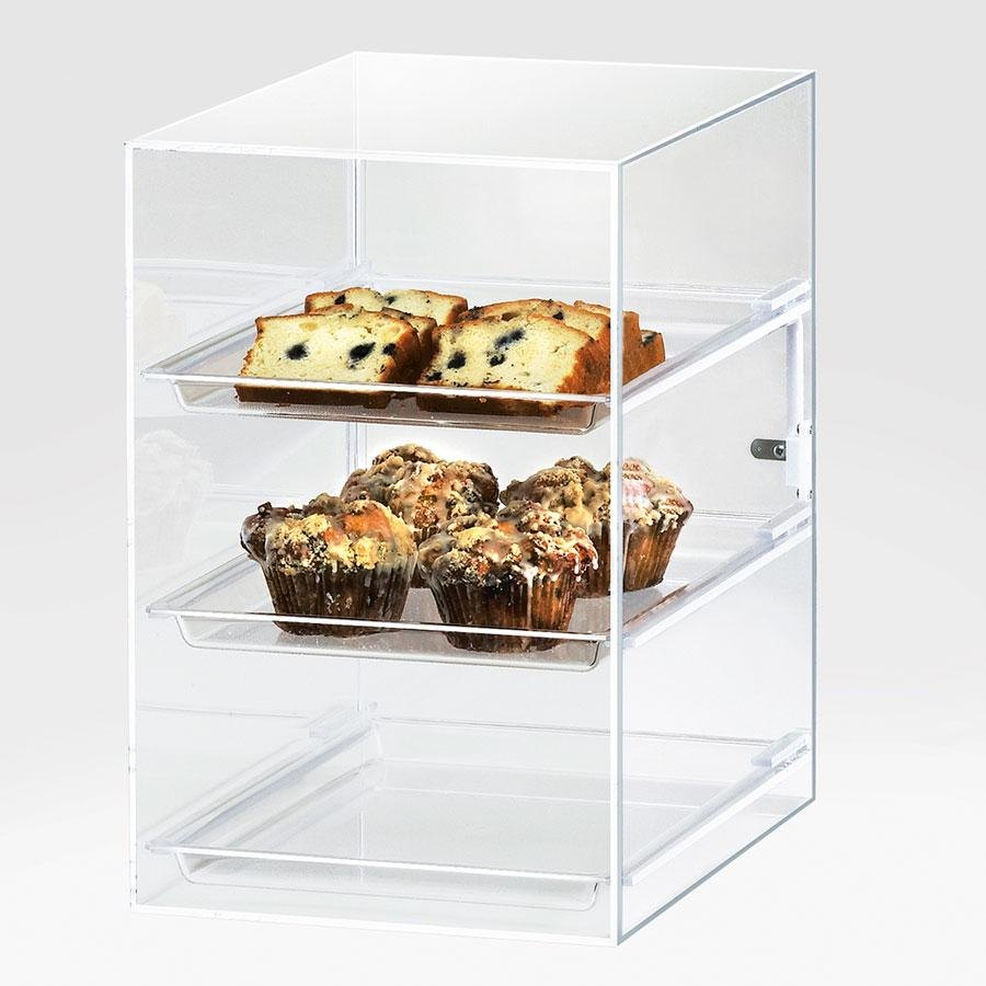 Cal Mil 257 Three Tier Classic Straight Front Display Case 11 inch x 15 1/2 inch x 17 inch