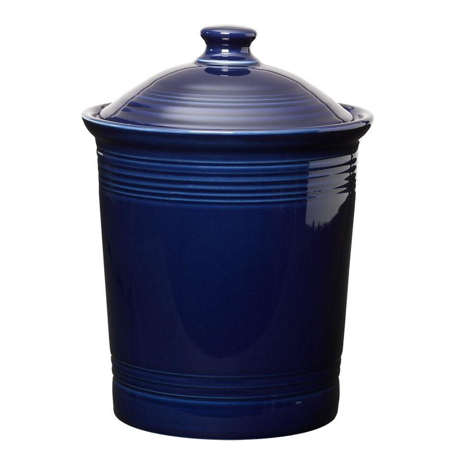 Homer Laughlin 573105 Fiesta Cobalt Blue Large 3 Qt. Canister with Cover - 2 / Case