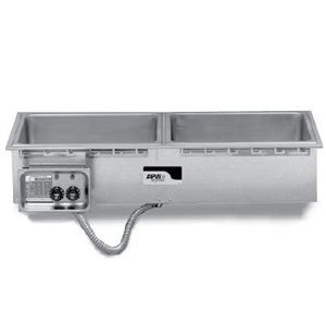 APW Wyott HFWS-3D Slimline 3 Pan Insulated Drop In Food Warmer with Drain