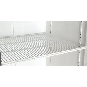 "True 909157 White Coated Notched Wire Shelf - 22 9/16"" X 24"""