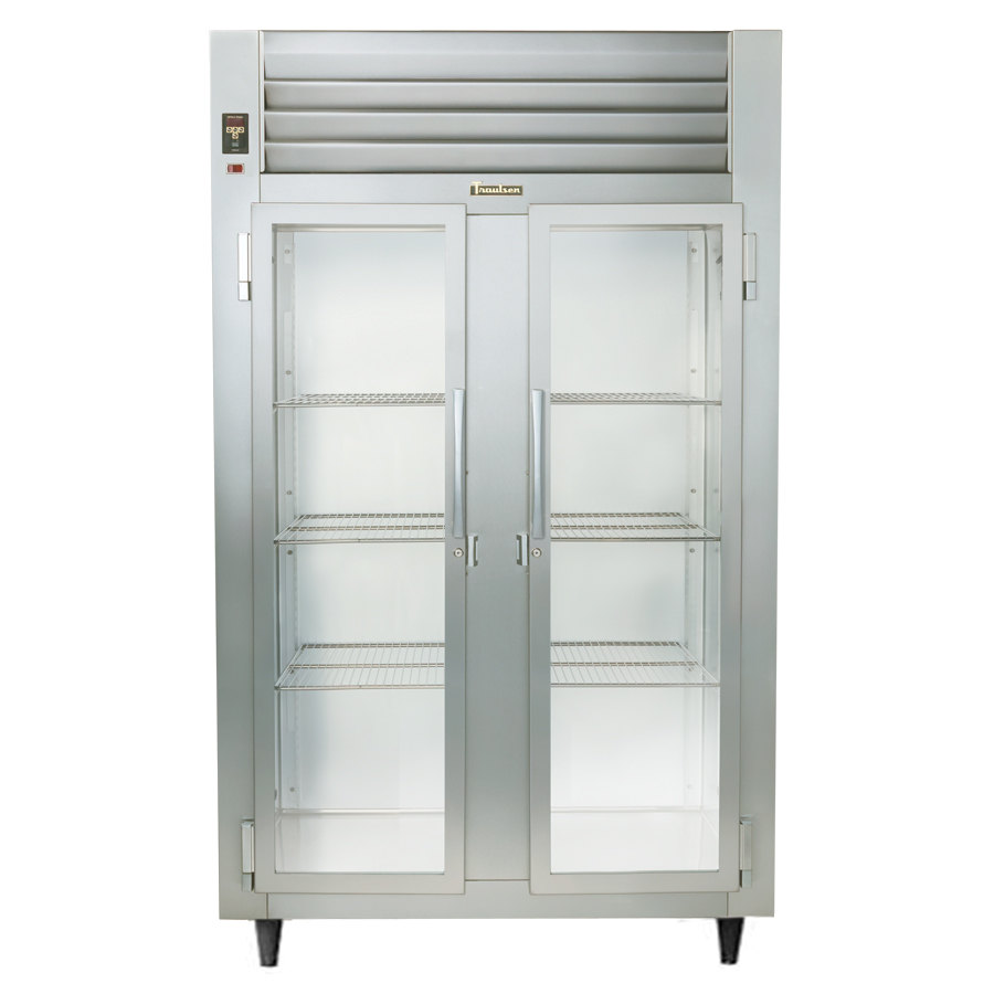 Traulsen RHT232NUT-FHG Stainless Steel 46 Cu. Ft. Two Section Glass Door Narrow Reach In Refrigerator - Sp