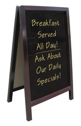 Write On Sidewalk Sign A Frame - 20 inch x 34 inch