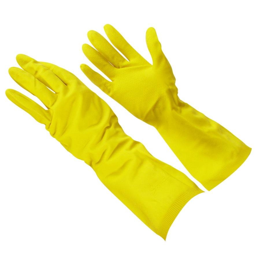 A yellow rubber gloves handjob for the pool boy 8