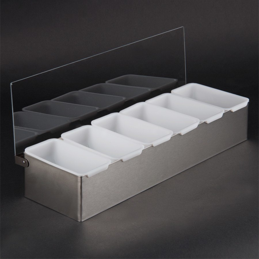 Stainless Steel 6 Compartment Condiment Dispenser