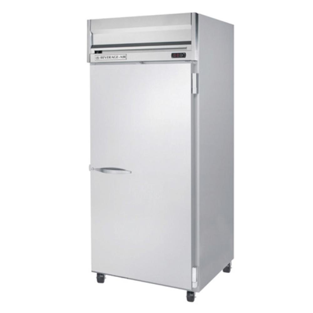 Beverage Air HFPS1W-1S Wide 1 Section Solid Door Reach-In Freezer - 34 cu. ft., Stainless Steel Exterior / Interior - Specification Series