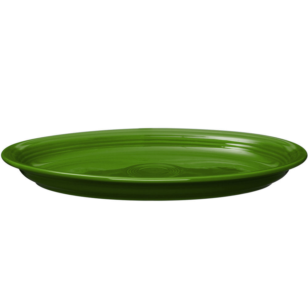 "Homer Laughlin 968324 Fiesta Shamrock 19 1/4"" x 13 1/2"" Extra Large Oval Serving Platter - 2/Case"
