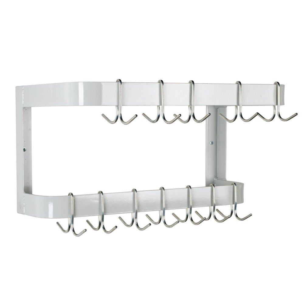 Advance Tabco GW-24 Wall Mounted Pot Rack with 12 Hooks - 24""