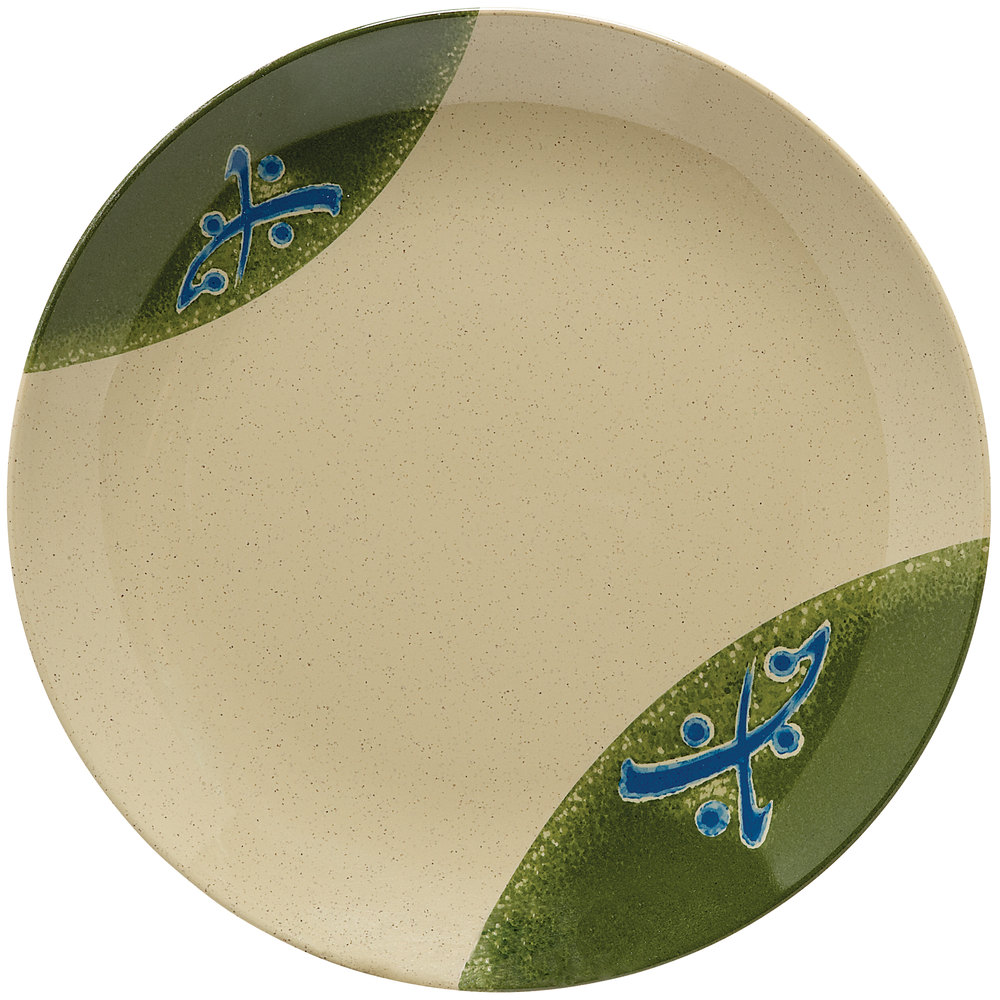 "GET 208-5-TD Japanese Traditional 12"" Plate with Wide Rim - 12/Case"