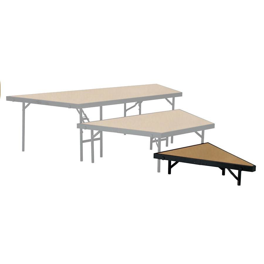 "National Public Seating SP488HB Portable Stage Pie Unit with Hardboard Surface - 48"" x 8"""