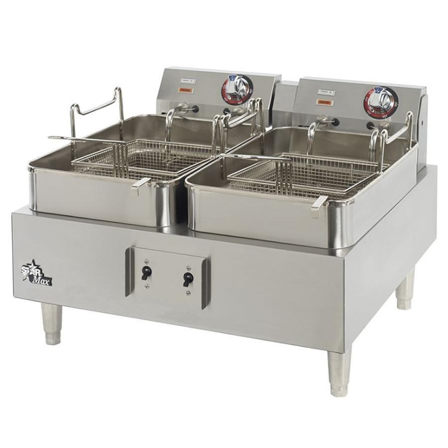 Countertop Deep Fryer : ... Twin Pot Commercial Countertop Deep Fryer 11,500W (Canadian Use Only