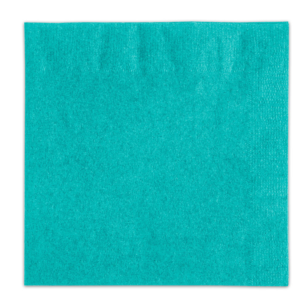 Choice Teal Beverage / Cocktail Napkin - 1000 / Case