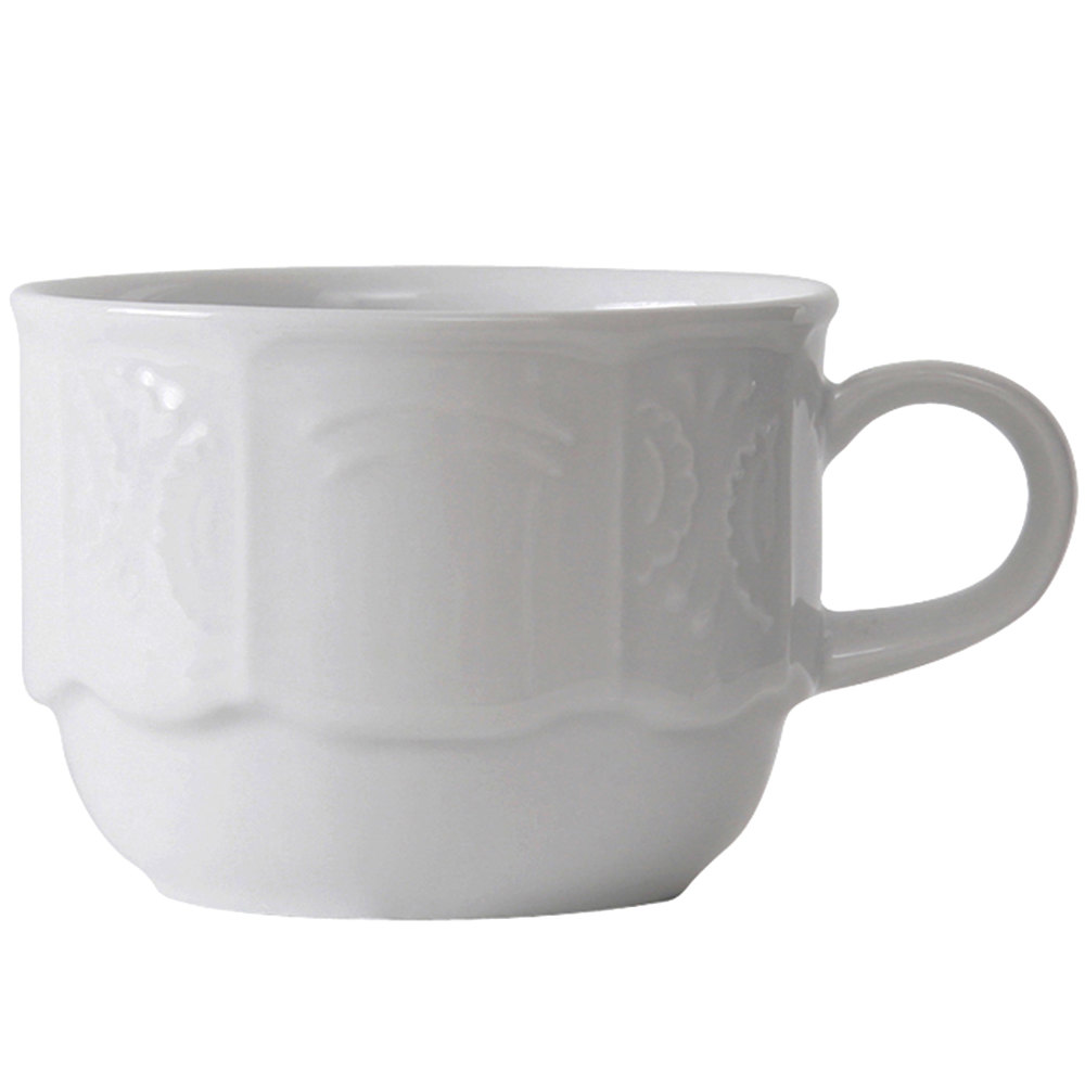 Tuxton CHF-030 Chicago 3 oz. Bright White Stackable China Demitasse Cup - 36/Case