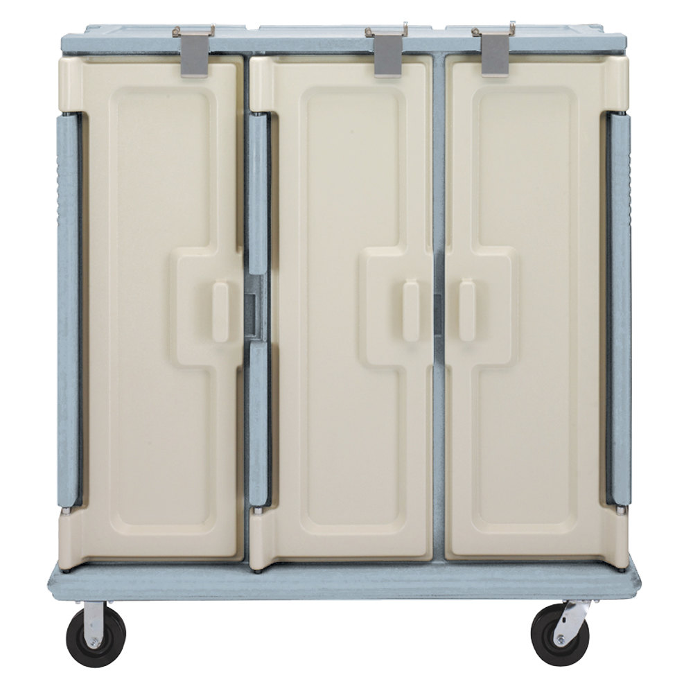 Cambro MDC1520T30401 Slate Blue 3 Compartment Meal Delivery Cart 30 Tray