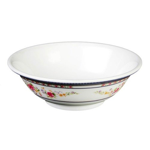Thunder Group 5070AR Rose 36 oz. Round Melamine Rimless Bowl - 12/Case