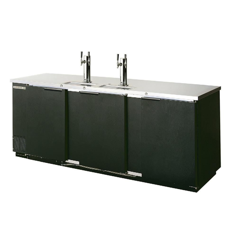"Beverage Air (Bev Air) DD78-1-B Black Four Keg Kegerator Beer Dispenser - 79"" at Sears.com"