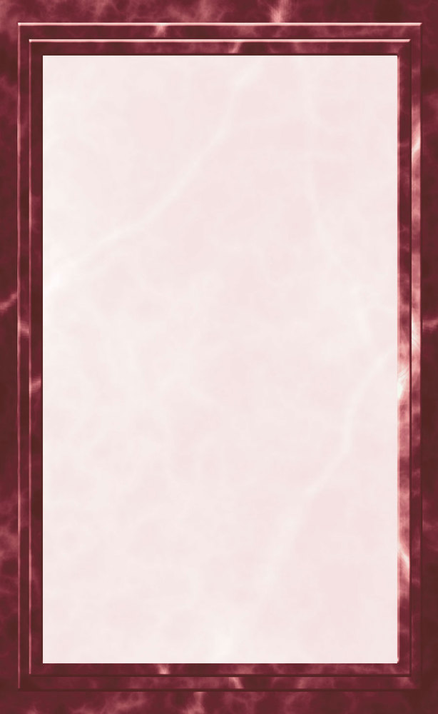 "8 1/2"" x 14"" Menu Paper - Burgundy Marble Border - 100/Pack"