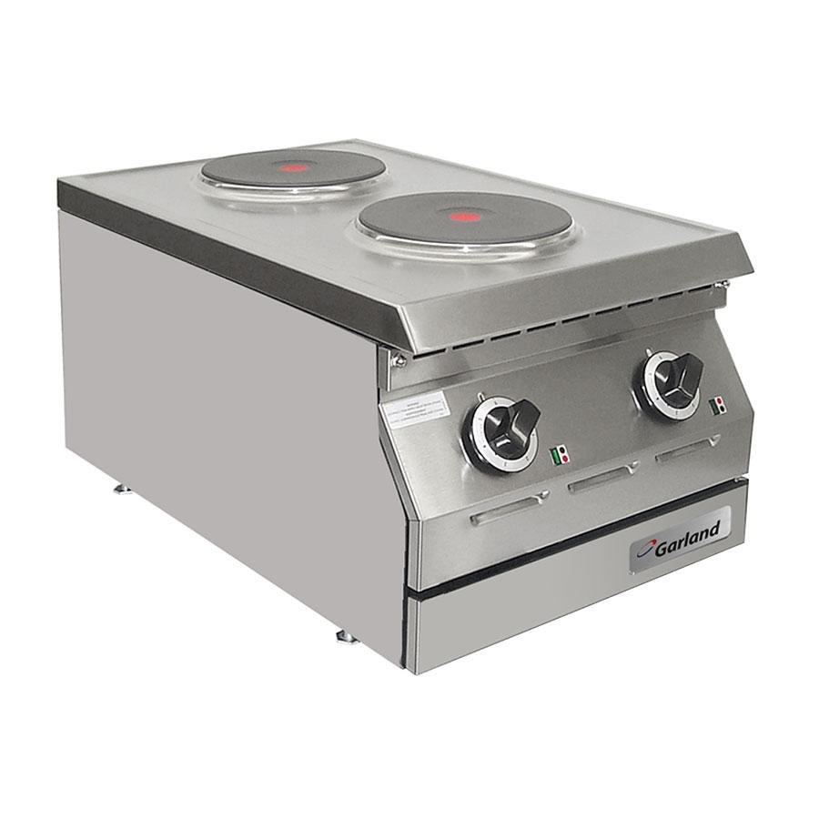 "Garland / US Range 240V Single Phase Garland ED-15HSE Designer Series 15"" Two Burner Electric Countertop Hot Plate - 9"" Solid Elements at Sears.com"