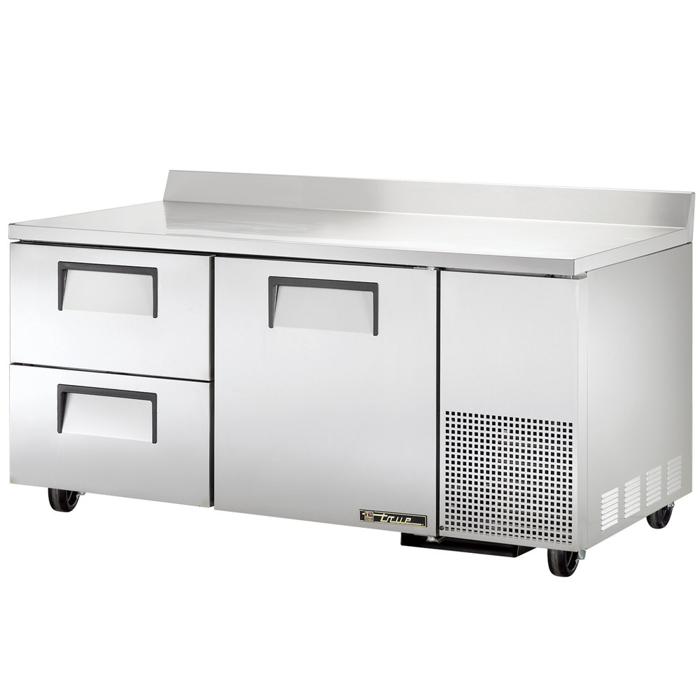 True TWT-67D-2 Deep Work Top Refrigerator with Two Drawers and One Door