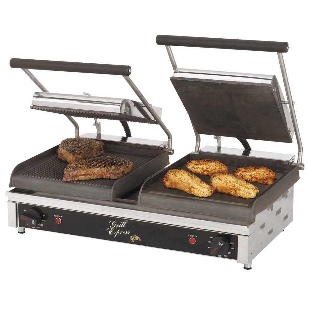 star gx20igs 10 x 10 dual grill express heavy duty grooved smooth panini grill. Black Bedroom Furniture Sets. Home Design Ideas