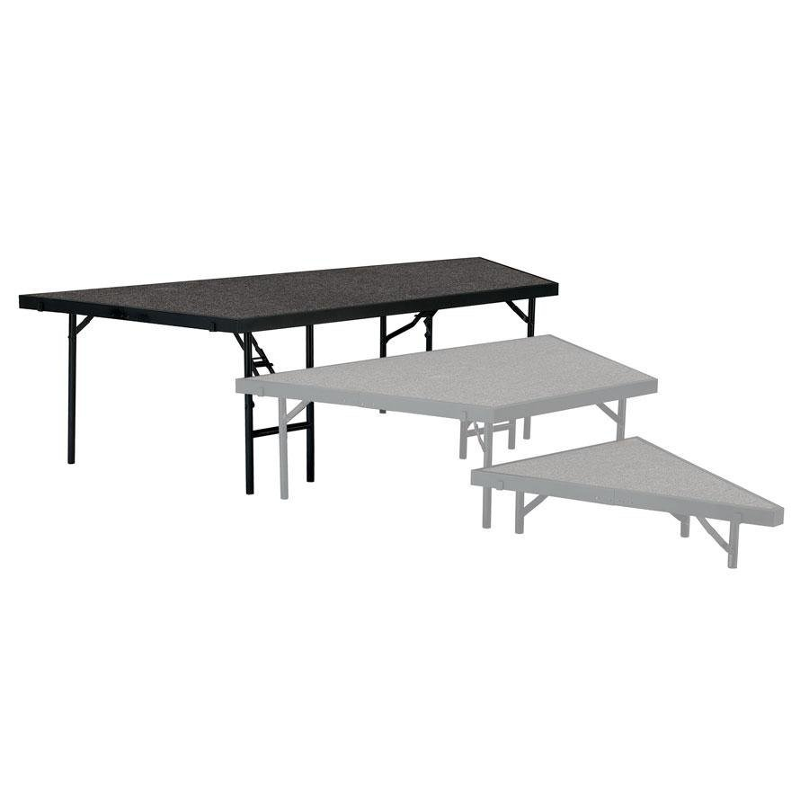 "National Public Seating SP3624C Portable Stage Pie Unit with Gray Carpet - 36"" x 24"""