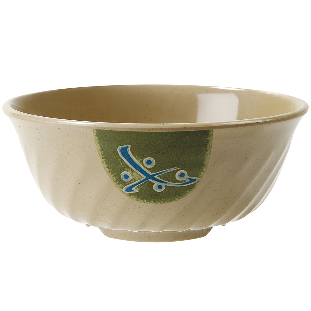 GET M-607-TD Japanese Traditional 32 oz. Fluted Bowl 12 / Case