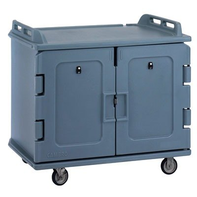 Cambro MDC1418S20401 Slate Blue Meal Delivery Cart 20 Tray