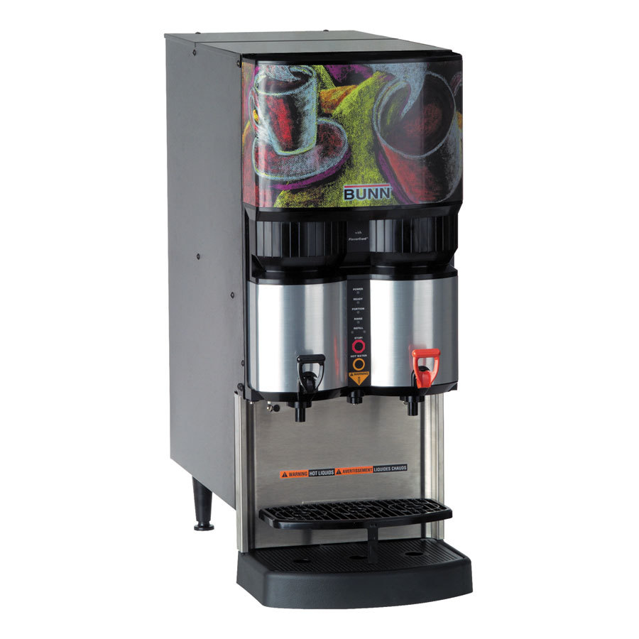 Bunn LCA-2 Ambient Liquid Coffee Dispenser with LiquiBox QC/D II Connector - 120V (Bunn 34400.0004)