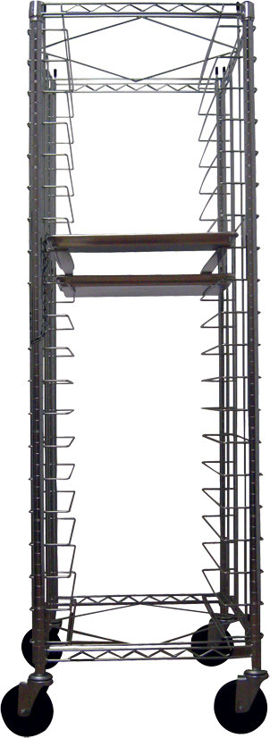 Metro RE-3 End-Load Wire Bun Pan Rack 21-3/4 inch x 27 inch (unassembled)
