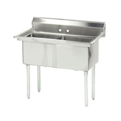 ... Tabco FC-2-1515 Two Compartment Stainless Steel Commercial Sink - 35