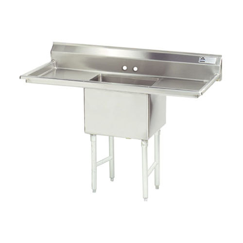 Advance Tabco FS-1-1824-18RL Spec Line Fabricated One Compartment Pot Sink with Two Drainboards - 54""