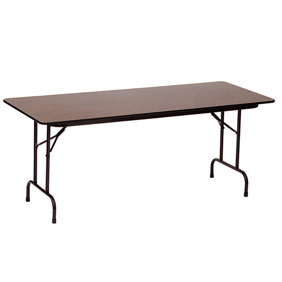 correll cf2448m 24 x 48 walnut melamine top folding table. Black Bedroom Furniture Sets. Home Design Ideas